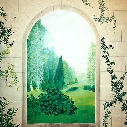acryl murals illusions dekorationsmalerei. Black Bedroom Furniture Sets. Home Design Ideas